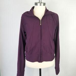 Nike Drifit Medium Purple Full Zip Up Sweater
